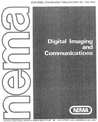 DICOM - Front page of ACR/NEMA 300, version 1.0, which was released in 1985
