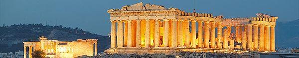 Vido de la Partenono en la Akropolo.