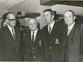Adriaan Pelzer, Danie Craven, Daan Swiegers and Prof. De Villiers.JPG