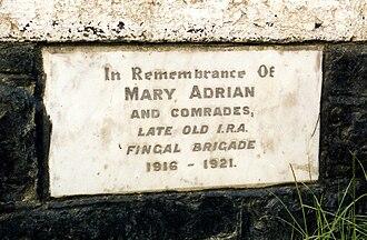 Oldtown, Dublin - Commemoration plaque on the bridge in Oldtown