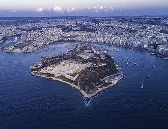 Manoel Island - Aerial view of Manoel Island