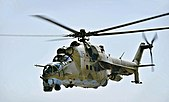 Afghan Air Corps Mi-35 on Kandahar, 2009.jpg
