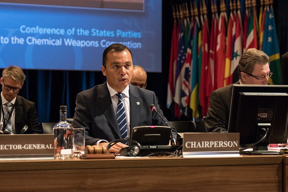 Agustin Vásquez Gómez, chairperson of OPCW's Fourth Review Conference, 2018