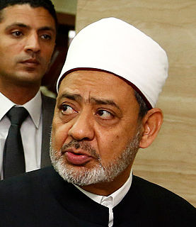 Ahmed el-Tayeb Imam of al-Azhar Mosque in Egypt