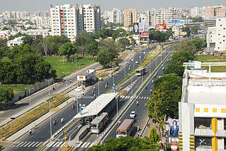 Bus rapid transit system in Ahmedabad