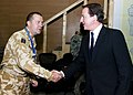 Air Commodore Paddy Teakle greets David Cameron.jpg