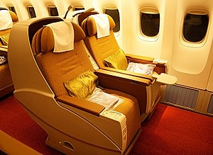 Business class - Business-class seats of Air India's Boeing 777-300ER