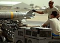 Airmen deployed to Afghanistan load ammo onto A-10's for missions 110808-F-AU128-575.jpg