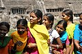 Ajanta Caves, India, Hindu girls in beautiful colorful saris.jpg