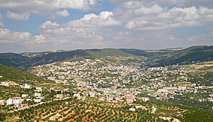 Ajloun - City of Ajlun from Ajlun Castle
