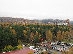 Akademgorodok (Krasnoyarsk) - Image: Akademgorodok Upper