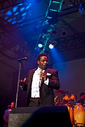 Al Green - Green performing at the Sonoma Jazz festival, May 23, 2008