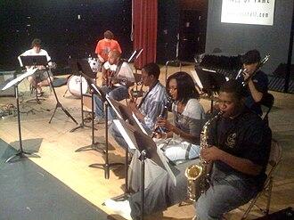"Alabama Jazz Hall of Fame - Members of the AJHoF free Saturday jazz class, instructed by Ray Reach, working on the bossa nova song, ""Chega de Saudade,"" by Antonio Carlos Jobim, May 23, 2009"