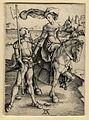 Albrecht Dürer Das Fräulein zu Pferd und der Landsknecht c1497 ubs G 1263 II.jpg