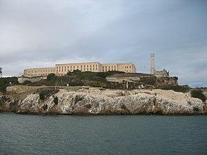 Prisão de Alcatraz, vista da Baía de São Francisco, nos dias de hoje.