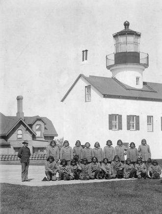 Alcatraz Island Lighthouse - Image: Alcatraz Light citadel Hopi