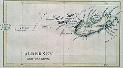 Karte von Alderney (1890)