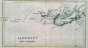 Map of Alderney (1890)