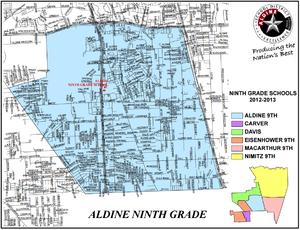 Aldine Ninth Grade School - Boundary Lines Map