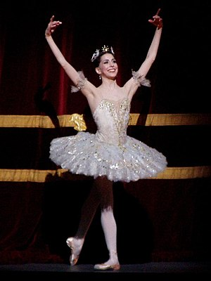 Alexandra Ansanelli - Ansanelli as Aurora in the Royal Ballet production of Sleeping Beauty on April 29, 2008