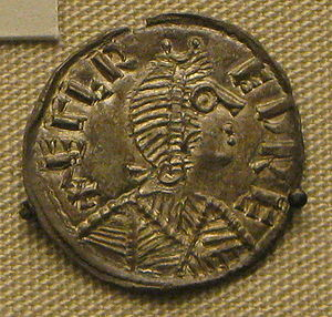 History of London - Silver coin of Alfred, with the legend ÆLFRED REX