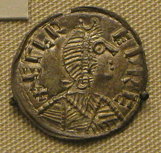 History of the English penny (c. 600 – 1066) - Silver coin of Alfred the Great, King of Wessex from 871 to 899.