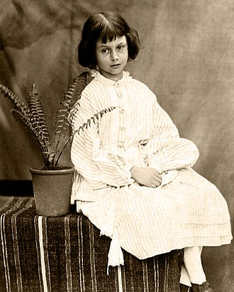 Alice Liddell - Liddell, aged 7, photographed by Charles Dodgson (Lewis Carroll) in 1860