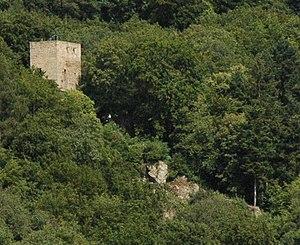 Alt-Wolfstein von  Burg Neu-Wolfstein aus gesehen