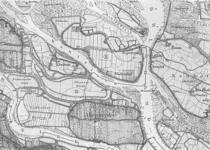 Altenwerder - Map of Altenwerder in 1878