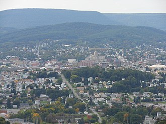 Altoona, Pennsylvania - Image: Altoona Downtown from Brush Mountain