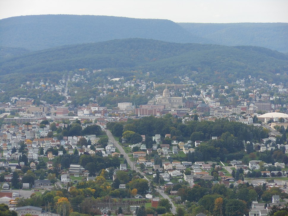 Altoona Downtown from Brush Mountain