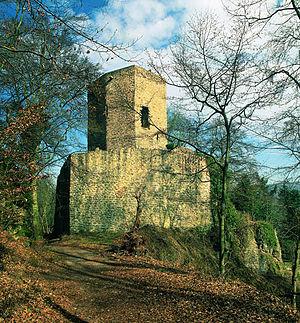 Wolfstein, Rhineland-Palatinate - Alt-Wolfstein castle ruin (monumental zone)