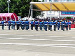 Alumni of Chung Cheng Armed Forces Preparatory School Drum Corps Performing at Tainan Air Force Base Apron 20130810.jpg