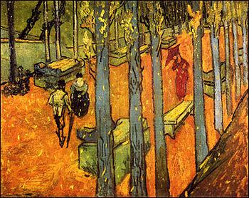 Les Alyscamps, Falling Autumn Leaves, Vincent ...