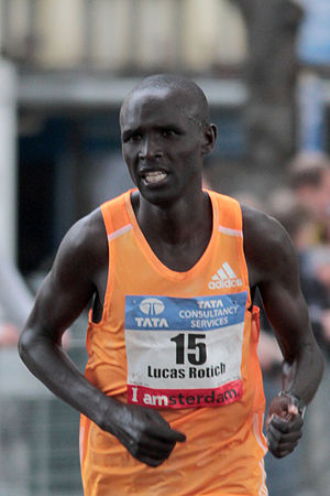 Lucas Rotich - At the Amsterdam Marathon 2014.