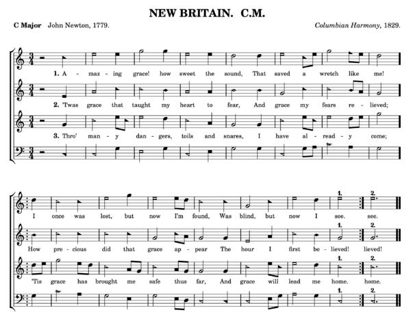 Harmonica Tab: Amazing Grace by John Newton