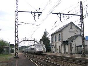 Ambazac - The TGV Brive-la-Gaillarde - Lille-Europe passing at the Ambazac station