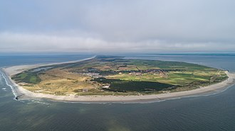 Ameland - Image: Ameland aerial view from the west