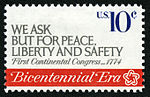 American Revolution Bicentennial We Ask But For Peace... 10c 1974 issue U.S. stamp.jpg