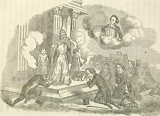 Americanism versus Romanism, or the cis-Atlantic battle between Sam and the pope (1856) (14595886059)