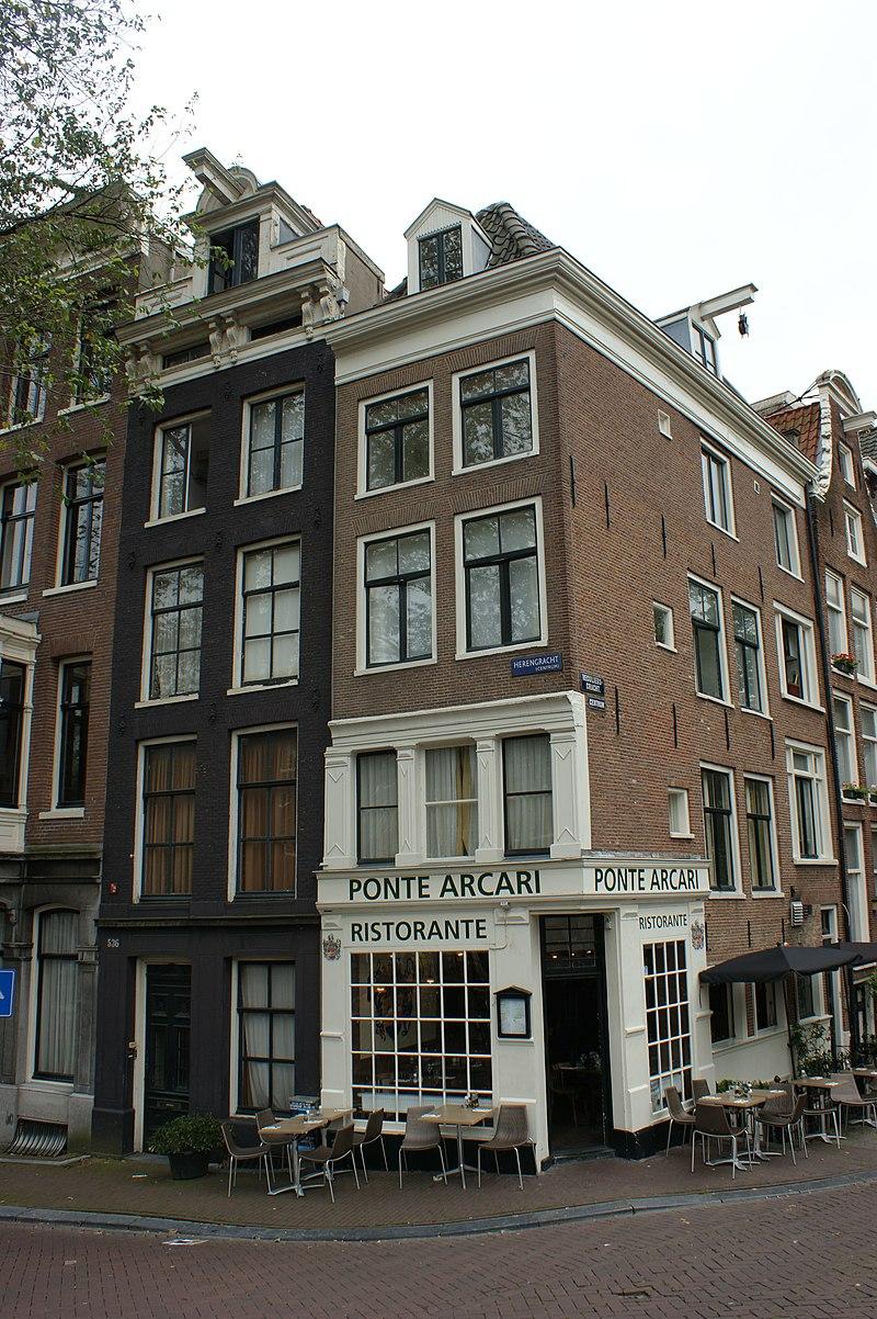Hoekhuis Onder Omlopend Schilddak Voorgevel In Amsterdam