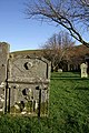 An old gravestone at Staplegordon Churchyard - geograph.org.uk - 1604898.jpg