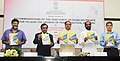 Ananth Kumar and the Minister of State for Chemicals & Fertilizers, Shri Hansraj Gangaram Ahir releasing the report of the Task Force on Enabling the Private Sector to Lead the Growth of Pharmaceutical Sector.jpg