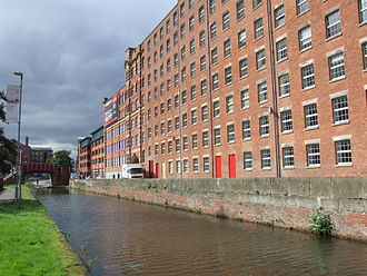 Cotton mill - Spinning mills in Ancoats, Manchester, England - representation of a mill-dominated townscape
