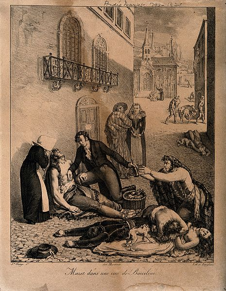 File:André Mazet tending people suffering from yellow fever in th Wellcome V0010539.jpg