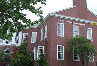 Angus Lewis Macdonald - Macdonald had a lifelong relationship with his alma mater. This library at St. Francis Xavier University is named after him.