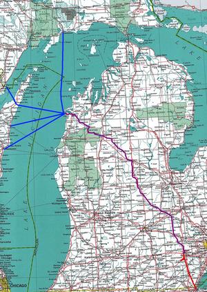 Ann Arbor Railroad (1895–1976) - Image: Ann Arbor Railroad Map