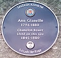 Ann Glanville blue plaque IMG 20170219 110734 glanville (32145969424) (cropped).jpg
