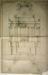 Measurements of the high altar of St. Bernard's Abbey in Antwerp