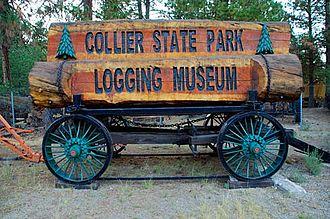 Collier Memorial State Park - Image: Antique Equipment (Klamath County, Oregon scenic images) (kla DA0139)